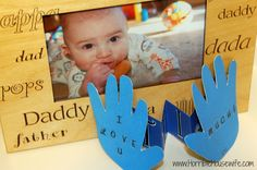 Father's Day card craft made out of your child's hands.
