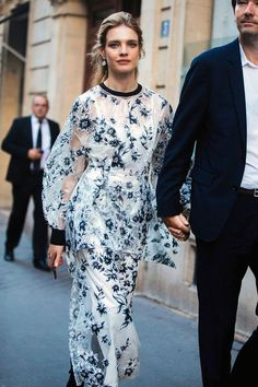 d5750ba53f70 Natalia Vodianova - On The Street  Paris Couture Fall 17 - See what the  models are wearing off-duty in Paris!
