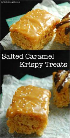 Salted caramel is one of our favorite flavors, which makes these amazing Salted Caramel Rice Krispies Treats a favorite, too. Description from diyncrafts.com. I searched for this on bing.com/images