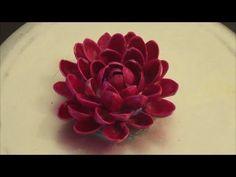 Flores hechas con cáscaras de pistacho. Reutilización. Recycle : Pistachio (pista) Shells flower (diy)