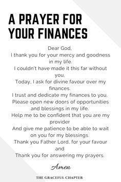 Dear God, I stand in front of you now to ask for a financial blessing to help me in my life. My faith keeps me going I know that you will provide what I need and what the people I love need. I don't want a big amount of money. ... Please give me a financial miracle so that I can do your work. Prayer For Financial Help, Prayer For Finances, Financial Quotes, Prayer For You, Daily Prayer, Financial Tips, Jesus Prayer, Prayer Scriptures, Prayer Quotes