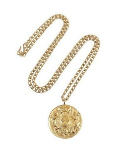 Cool Coin Jewelry For Summer: Kenneth Jay Lane Gold-Plated Coin Necklace. Pair it with a drapey, Marilyn Monroe-style white dress.
