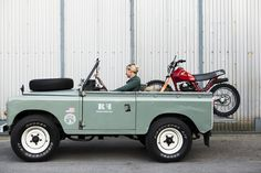landrover-series3: Insight my Landrover Series 31972 #landrover #motorbike #girl