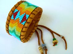 Custom Order This Native American Beadwork  by TribalVibesLeather, #beadwork #beadweaving