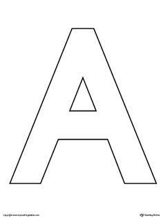 uppercase letter a template printable