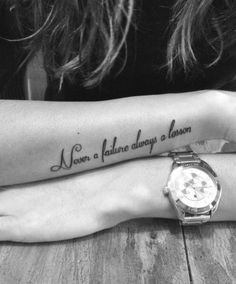 Ideas Tattoo Designs For Girls Wrist Tatoo For 2019 Forearm Word Tattoo, Word Tattoos On Arm, Arm Quote Tattoos, Lower Arm Tattoos, Writing Tattoos, Tattoo Sayings, Text Tattoo Arm, Wrist Tattoo Writing, Collar Bone Tattoo Quotes