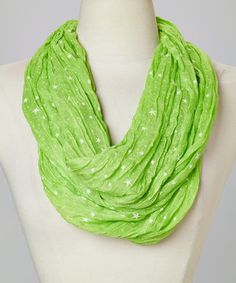 Another great find on #zulily! Ann Carol Designs Lime Stars Infinity Scarf by Ann Carol Designs #zulilyfinds