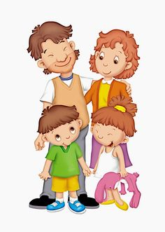 Family Picture Cartoon, Cute Cartoon Pictures, Family Relationship Chart, Family Clipart, Family Theme, School Clipart, Bible For Kids, My Themes, Kids Corner