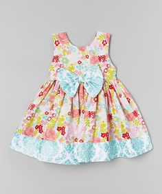 Look at this Green & Red Summer Blooms Dress - Infant, Toddler & Girls on #zulily today!