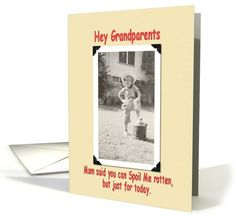 Personalize any greeting card for no additional cost! Cards are shipped the Next Business Day. Grandparents Day Cards, Just For Today, Funny Cards, Holiday Cards, Greeting Cards, Gift Ideas, Humor, Gifts, Products