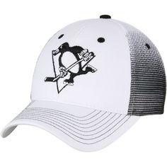 Men s Pittsburgh Penguins Zephyr White Black Jolt Trucker Adjustable  Snapback Hat - Shop.NHL.com b858f79788a79