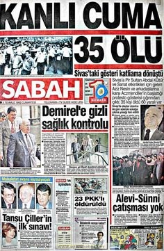Sabah gazetesi 3 temmuz 1993