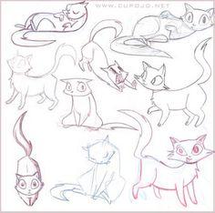 Cat sketches, 2008