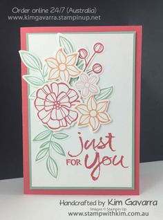 Stampin' Up! Falling Flowers, Clean & Simple Stamp With Kim Australia