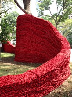 Knitted art in New York City
