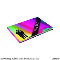 Gay Wedding Rainbow Guest Book 15% off