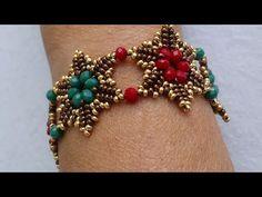 Kristal Bileklik Yap m Crystal Bracelet Tutorial - video perline Seed Bead Bracelets, Crystal Bracelets, Jewelry Bracelets, Jewelery, Diy Jewelry, Beaded Jewelry, Fashion Jewelry, Jewelry Design, Jewelry Making