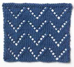 simple chevron lace • lion brand stitchfinder