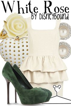 Disney Bound - White Rose