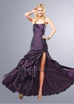 2014 UK Purple Wedding Party Dress at discount