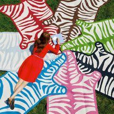 Jonathan Adler Rug Zebra Red