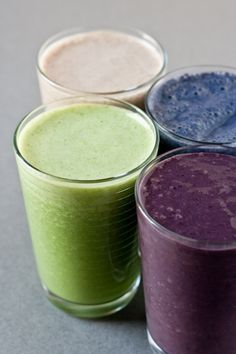 Some ideas for healthy smoothies.