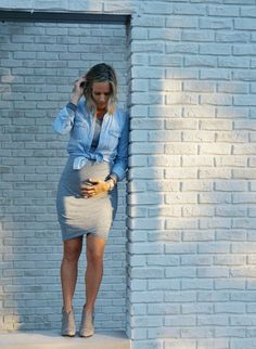 the bump + a cozy t shirt dress - my kind of sweet // pregnancy style // fall style