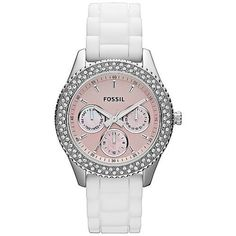 Fossil Women's ES2989 White Silicone Quartz Watch with Pink Dial Fossil, http://www.amazon.com/dp/B0065URPWA/ref=cm_sw_r_pi_dp_01oFqb12G47S2