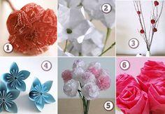 Paper flowers. #paperflowers, #paper, #flowers, #craft, #weddings, #diy paper-craft-ideas