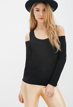 Cutout-Shoulder Long Sleeve | FOREVER21 - 2052287927