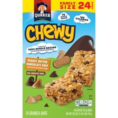 Shop for Granola Bars, Snack Bars & Energy Bars in Snacks, Cookies & Chips. Buy products such as Great Value Chewy Variety Pack Granola Bars Value Pack, oz, 24 Count at Walmart and save. Chocolate Chip Granola Bars, Chewy Granola Bars, Chocolate Chips, Oat Bars, Low Fat Chocolate, Chocolate Peanut Butter, 100 Calories, Cereal Bars, Peanut Butter Chips