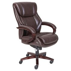 La Z Boy Bellamy Office Chair Executive Bonded Leather Chair Best Office Chair, Executive Office Chairs, Office Desk, Cool Chairs, Bar Chairs, Desk Chairs, Dining Chairs, Wooden Chairs, Side Chairs