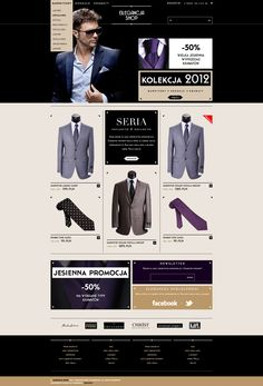 Suits Shop by Michal Wierzbicki, via Behance