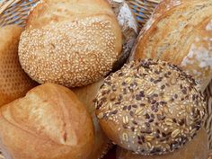 Bread (Brot) is a significant part of German cuisine, with the largest bread diversity in the world. Around 300 kinds of breads and different kinds of pas German Breakfast, German Bread, Good Food, Yummy Food, Bread Rolls, Bread Baking, Food And Drink, Cooking Recipes, Favorite Recipes