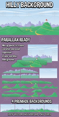 Repeating hilly background has just been added to GameDev Market! Check it out: http://ift.tt/23mwWn8 #gamedev #indiedev