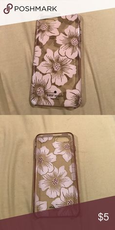Kate Spade phone case Super cute phone case with flowers on it. Very loved and used kate spade Accessories Phone Cases