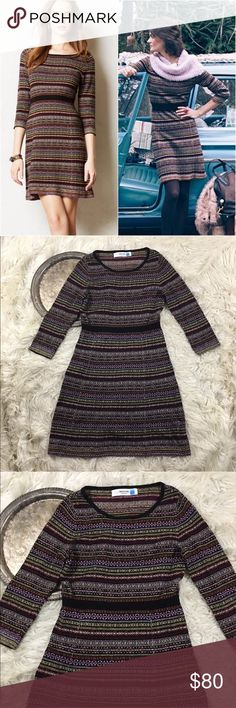 "Anthro Sparrow Clara Sweater Dress RARE Anthropologie Sparrow 'Clara' sweater dress as seen on Lucy Hale, women's size S.   Bust 32"" waist 26"" length 34"" Anthropologie Dresses Long Sleeve"