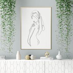 Minimalist Art, Minimalist Bathroom, Poster Minimalista, Colossal Art, Abstract Line Art, Bathroom Wall Art, Art Mural, Home Wall Decor, Line Drawing