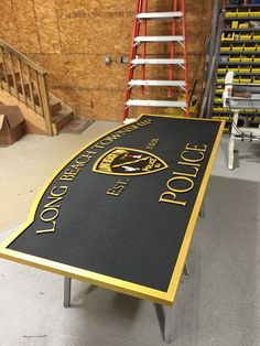 Long Beach Township Police Carved Sign - Coastal Sign & Design, LLC #lbtpd #lbi #carvedsign #westcreek #nj