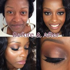 Holy makeup. Always amazes me how different some girls can look in real life!!