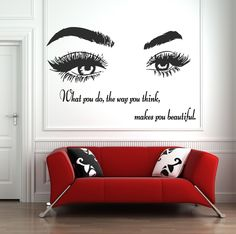 Eyelashes and Eyebrows Wall Decal Lashes and Brows Window Sticker Lashes Extensions Wall Decal Eyes Beauty Salon Wall Art Wall Stickers Home Decor, Window Stickers, Vinyl Wall Decals, Inspirational Wall Decals, Beauty Salon Decor, Letter Wall, Brows, Eyelashes, Latest Trends