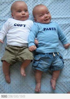 I would looovvveee to have twins.Copy and Paste, cute twin baby pictures  @Lindsay Dillon Keith   LOL  too funny!
