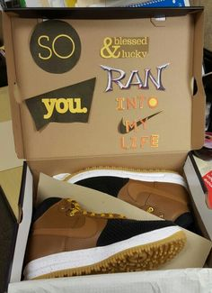 Shoes With Surprise Message - cute present for boyfriend   Gift ...
