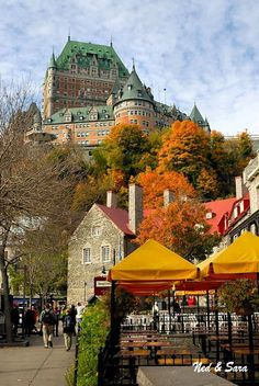 view up the hill in old Quebec, Canada