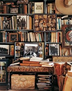 (good vibes and positive energy) Packed shelves - bookshelves - books - storage - old things - antique - inspiration