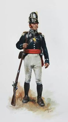 Sgt. of the 7th US Infantry in 1815, as he would have appeared at the Battle of New Orleans, by Don Troiani