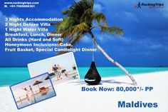 Maldives Tour Packages – Get Best offers on Maldives Packages at affordable prices. Explore Maldives Honeymoon Packages And Maldives Holiday Packages. Maldives Honeymoon Package, Maldives Packages, Maldives Tour Package, Honeymoon Tour Packages, Candlelight Dinner, Maldives Holidays, International Holidays, Water Villa, D Book