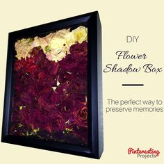 Tutorial: DIY Dried Flower Shadow Box | An easy way to preserve memories! Pinteresting Projects.