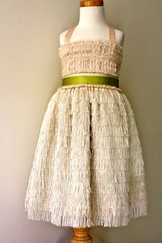 Pale Pink Vera Flapper Flower Girl Dress With by DolorisPetunia, $500.00