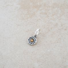 "Petite sterling silver oxidized charm, set with a real mustard seed, a wearable reminder to place your trust in God. ""'I tell you the truth, if you have faith as small as a mustard seed, you can say t"